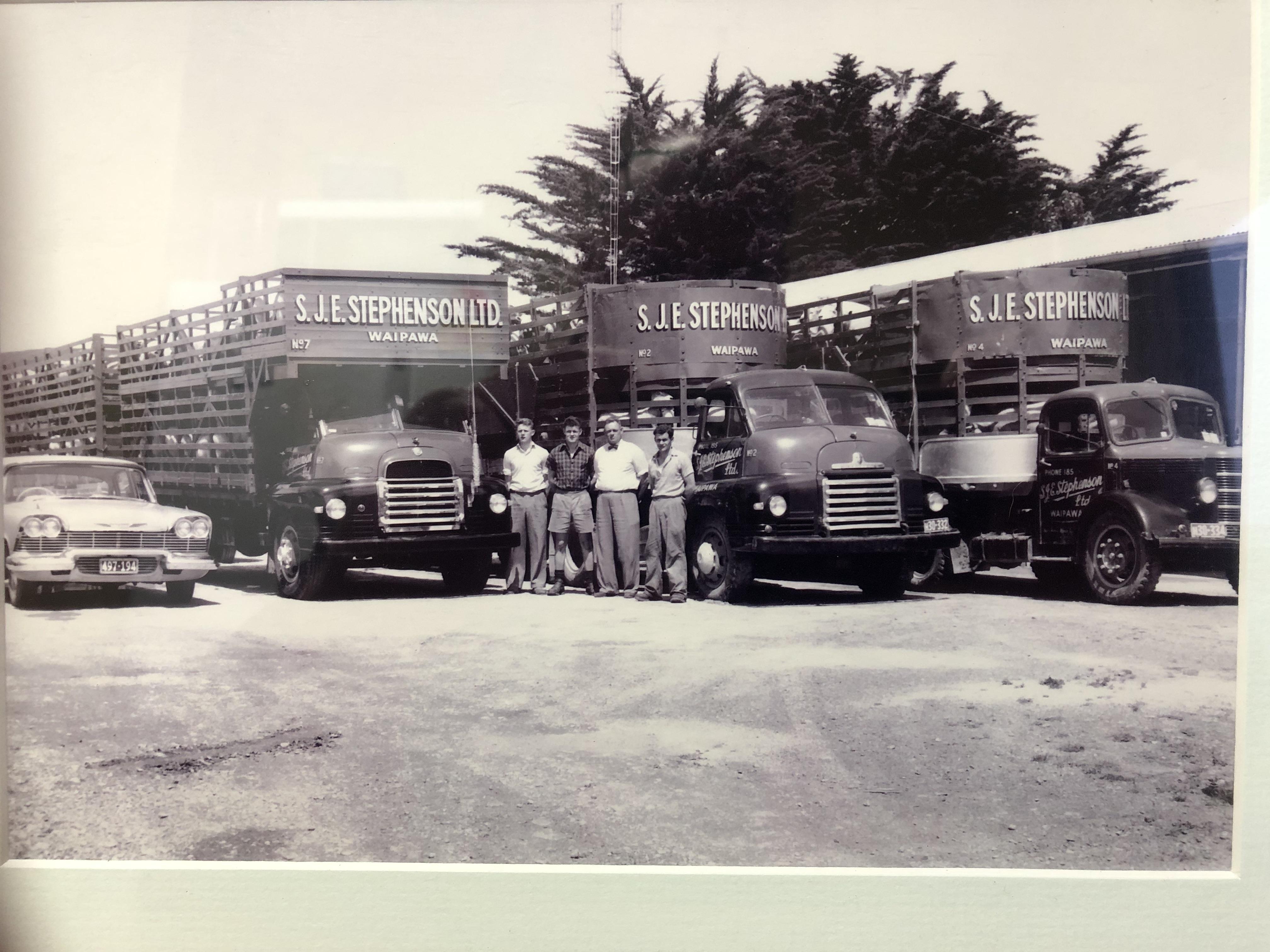 Fleet of SJE Transport trucks
