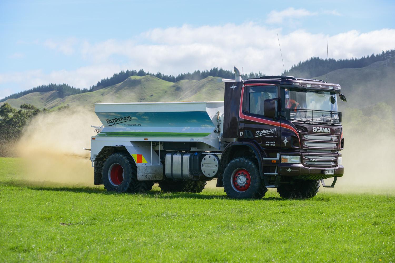 Scania Tipper Truck in a Field